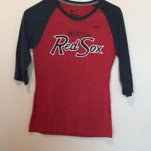 Nike Red Sox 3/4 length women's tee